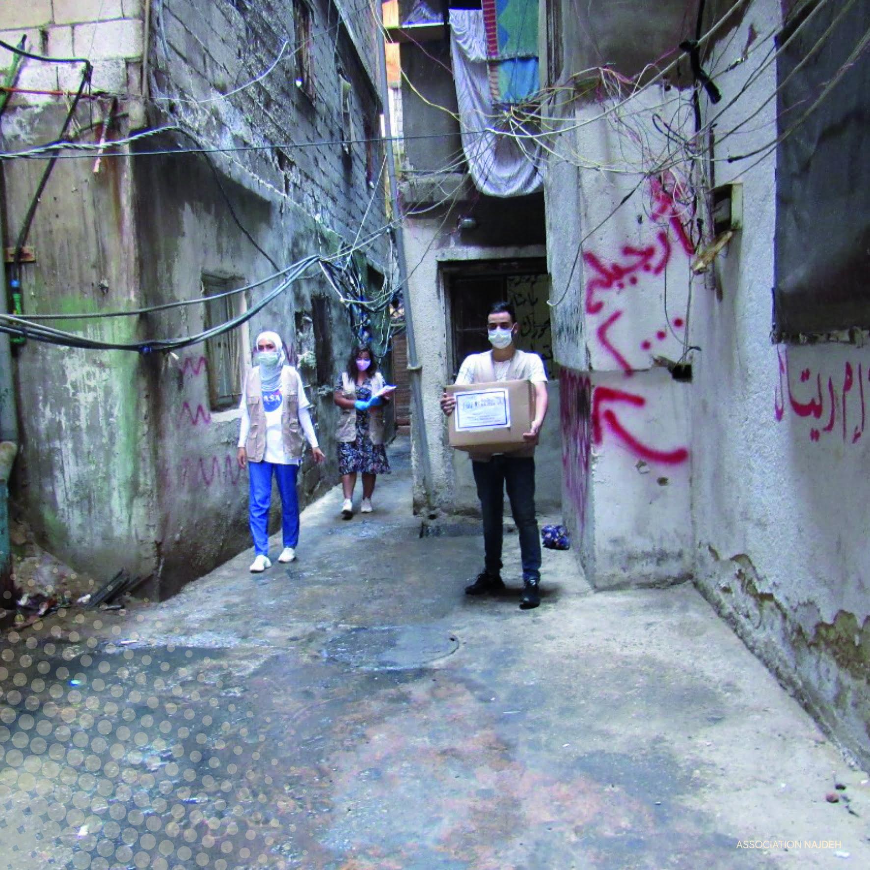 للمساهمة قدر المستطاع في تأمين الحاجات الأساسية للاجئين الفلسطينيين في لبنان