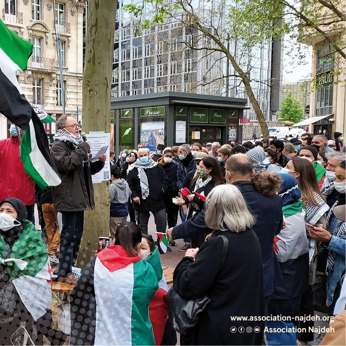 مسيرة حاشدة في نانسي/فرنسا لمناصرة الشعب الفلسطيني