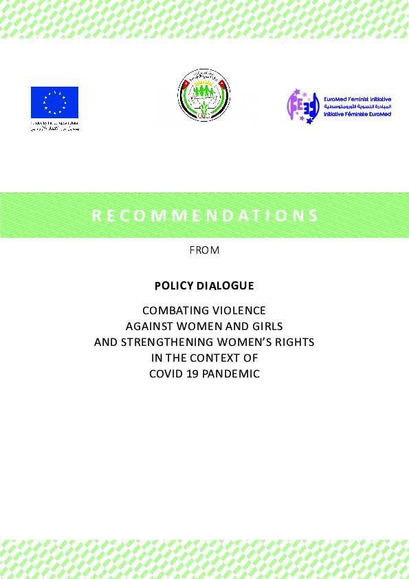 Recommendations - Policy Dilaogue - Implementing 4th UfM  Ministerial Declaration in the contxt of Covid-19 - En.pdf